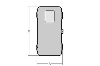 Armarios para extintores cotas Armario 9Kg - SBD World Packaging